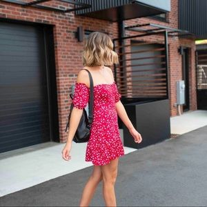 Pretty Little Thing Red Floral Dress